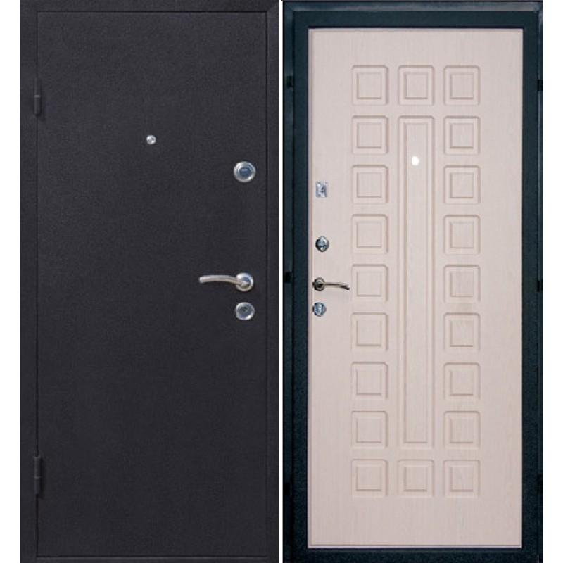 дверь входная двухсторонняя темная беленый дуб